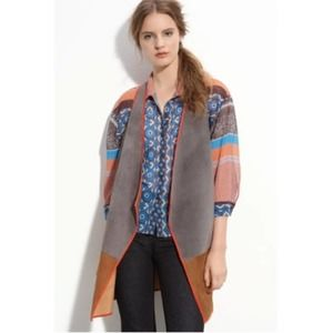 Clover Canyon Colorblock Suede Vest Small